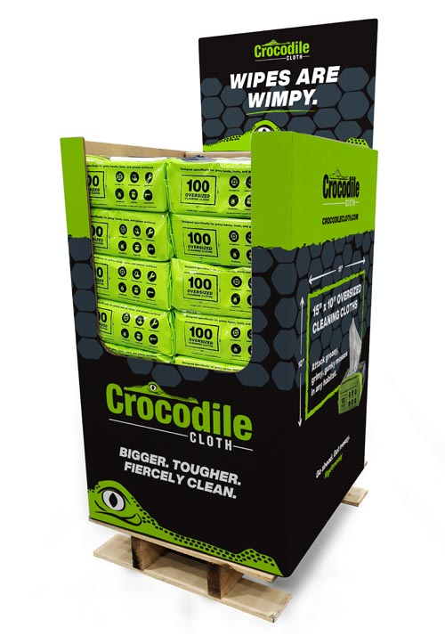 Crocodile Cloth Quarter Pallet Displayer for Merchandising