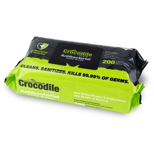 Crocodile Cloth Antibacterial Hand Wipes 200-Pack