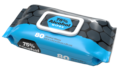 8162 Alcohol Wipes 80 Pack