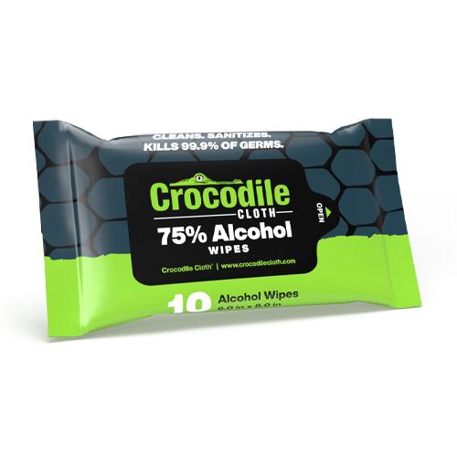 Crocodile Cloth 8163 10-Count Alcohol Wipes
