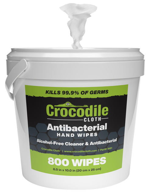 Crocodile Cloth Antibacterial Wipes 800-Count Bucket